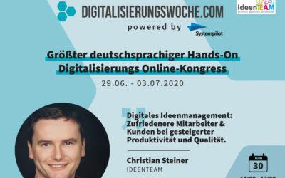 Teaser für Digitalisierungswoche – Ideenmanagement